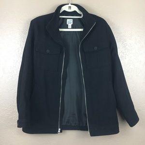 Old navy black jacket pea coat